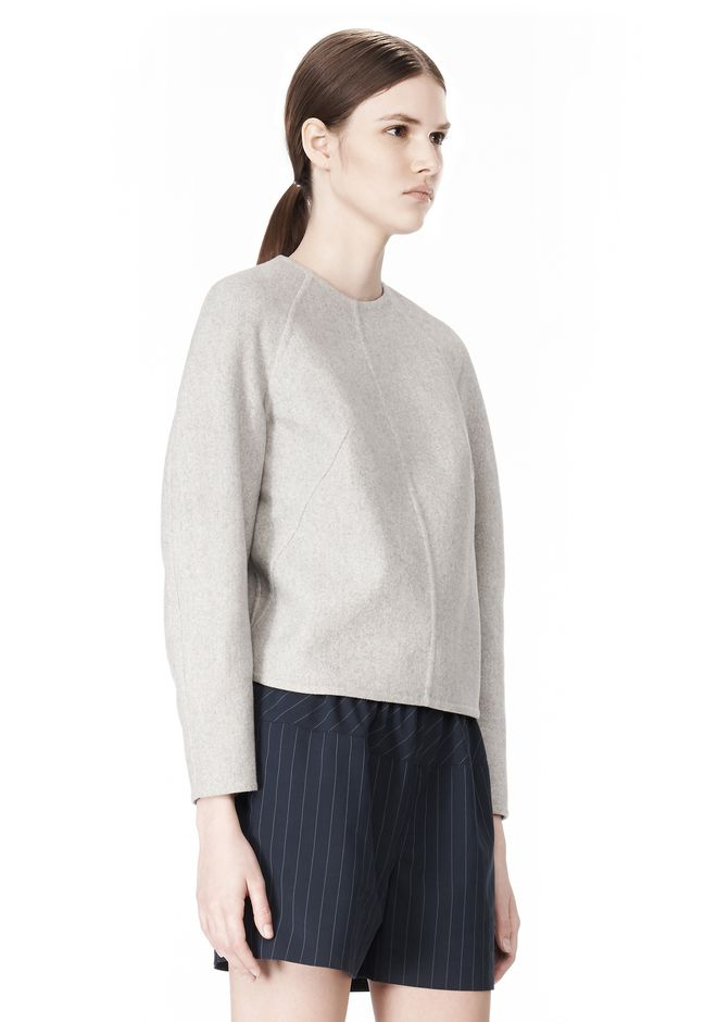 ALEXANDER WANG SWEATSHIRT WITH SHIRT TAIL HEM TOP Adult 12_n_a