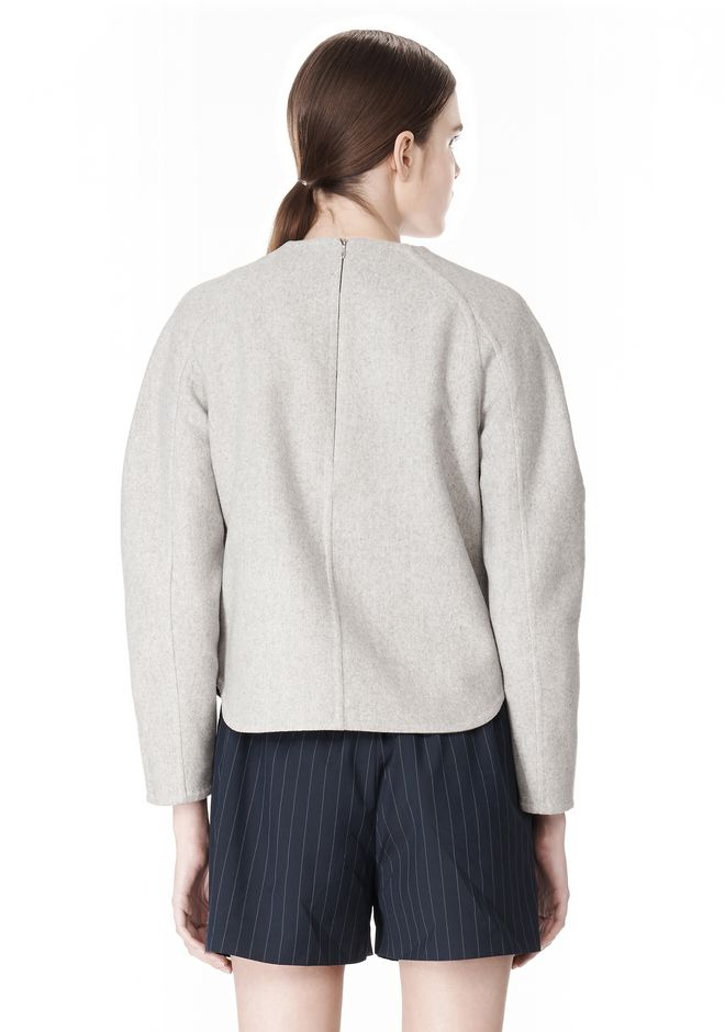 ALEXANDER WANG SWEATSHIRT WITH SHIRT TAIL HEM TOP Adult 12_n_d