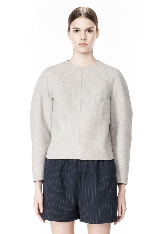 ALEXANDER WANG SWEATSHIRT WITH SHIRT TAIL HEM TOP Adult 12_n_e