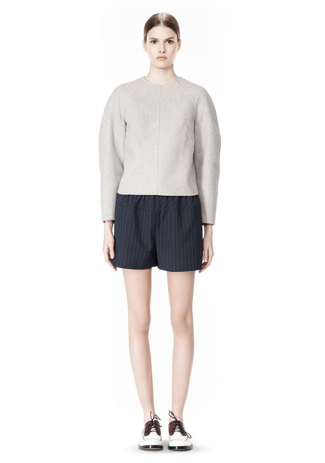 ALEXANDER WANG SWEATSHIRT WITH SHIRT TAIL HEM TOP Adult 12_n_f