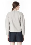 ALEXANDER WANG SWEATSHIRT WITH SHIRT TAIL HEM TOP Adult 8_n_d