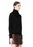 ALEXANDER WANG PULLOVER WITH ZIP BANDANA TOP Adult 8_n_a