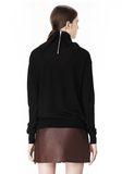 ALEXANDER WANG PULLOVER WITH ZIP BANDANA TOP Adult 8_n_d