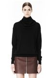 ALEXANDER WANG PULLOVER WITH ZIP BANDANA TOP Adult 8_n_e