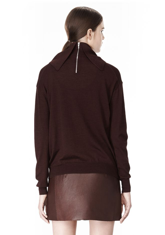 ALEXANDER WANG PULLOVER WITH ZIP BANDANA TOP Adult 12_n_d