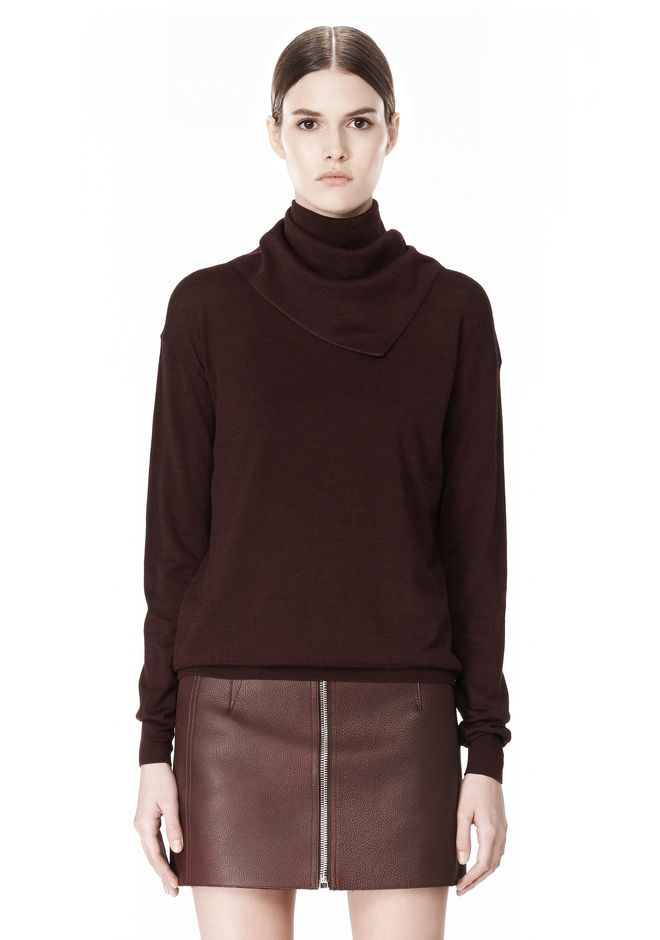 ALEXANDER WANG PULLOVER WITH ZIP BANDANA TOP Adult 12_n_e