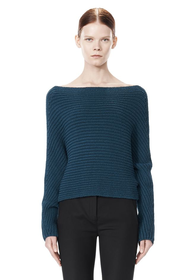ALEXANDER WANG CROPPED RIB PULLOVER  TOP Adult 12_n_e