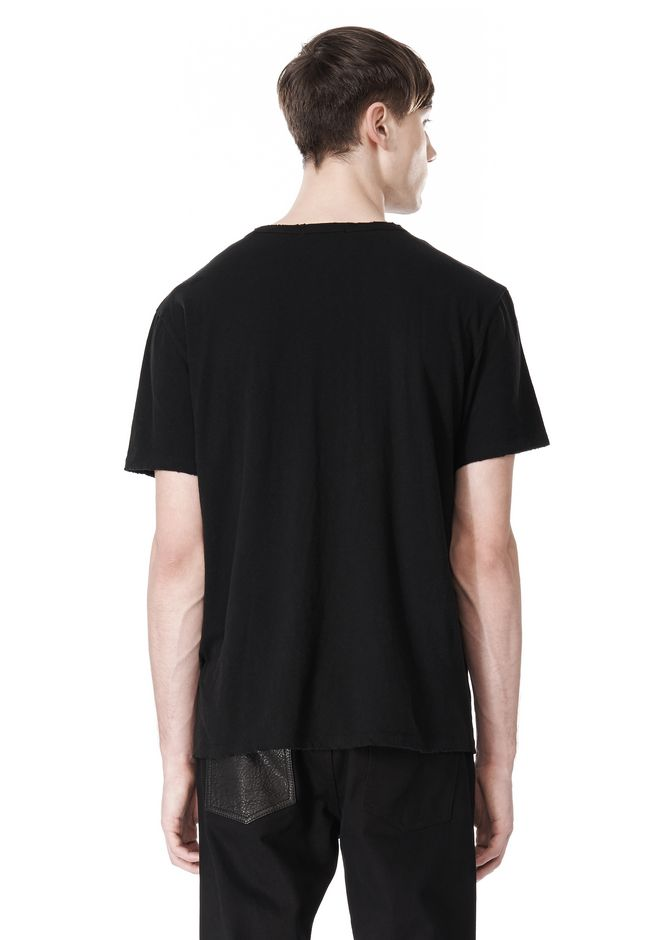 T by ALEXANDER WANG DISTRESSED SLUB COTTON JERSEY CREWNECK TEE /DEL Adult 12_n_d