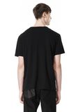T by ALEXANDER WANG DISTRESSED SLUB COTTON JERSEY CREWNECK TEE /DEL Adult 8_n_d