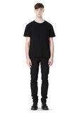 T by ALEXANDER WANG DISTRESSED SLUB COTTON JERSEY CREWNECK TEE /DEL Adult 8_n_f