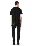 T by ALEXANDER WANG DISTRESSED SLUB COTTON JERSEY CREWNECK TEE /DEL Adult 8_n_r