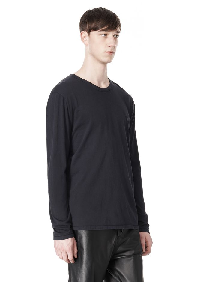 T by ALEXANDER WANG CLASSIC CREWNECK LONG SLEEVE TEE LONG SLEEVE TEE Adult 12_n_a