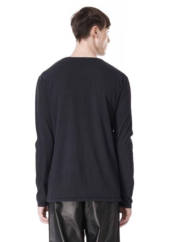 T by ALEXANDER WANG CLASSIC CREWNECK LONG SLEEVE TEE LONG SLEEVE TEE Adult 12_n_d