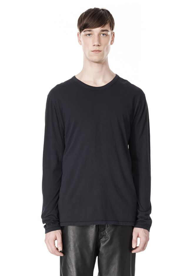 T by ALEXANDER WANG CLASSIC CREWNECK LONG SLEEVE TEE LONG SLEEVE TEE Adult 12_n_e