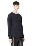 T by ALEXANDER WANG CLASSIC CREWNECK LONG SLEEVE TEE LONG SLEEVE TEE Adult 8_n_a
