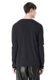 T by ALEXANDER WANG CLASSIC CREWNECK LONG SLEEVE TEE LONG SLEEVE TEE Adult 8_n_d