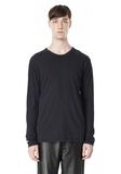 T by ALEXANDER WANG CLASSIC CREWNECK LONG SLEEVE TEE LONG SLEEVE TEE Adult 8_n_e