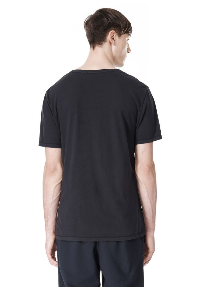 T by ALEXANDER WANG LOW NECK SHORT SLEEVE TEE /DEL Adult 12_n_d