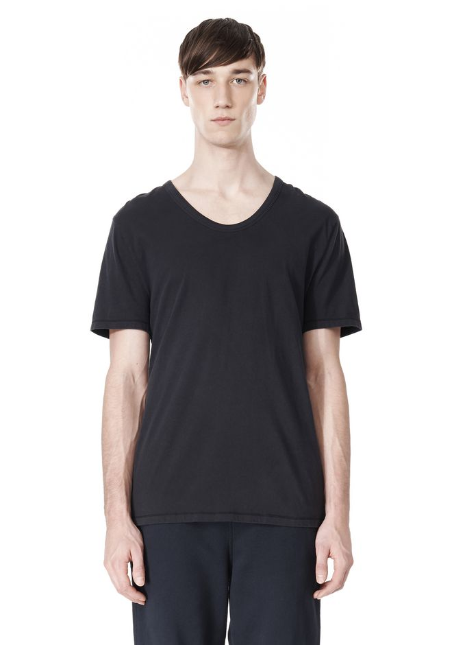T by ALEXANDER WANG LOW NECK SHORT SLEEVE TEE /DEL Adult 12_n_e