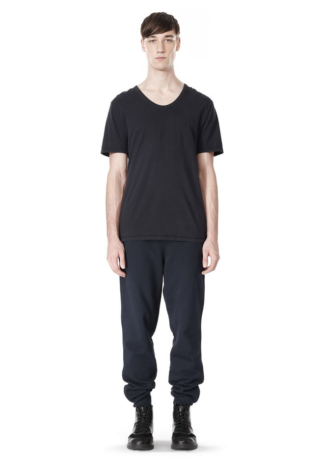 T by ALEXANDER WANG LOW NECK SHORT SLEEVE TEE /DEL Adult 12_n_f