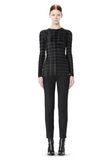 ALEXANDER WANG EXCLUSIVE LONG SLEEVE PLEATED TOP WITH RAW EDGE TOP Adult 8_n_f