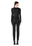 ALEXANDER WANG EXCLUSIVE LONG SLEEVE PLEATED TOP WITH RAW EDGE TOP Adult 8_n_r