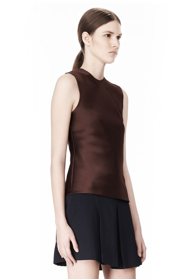 ALEXANDER WANG EXCLUSIVE SHELL TOP WITH FRINGE TOP Adult 12_n_a