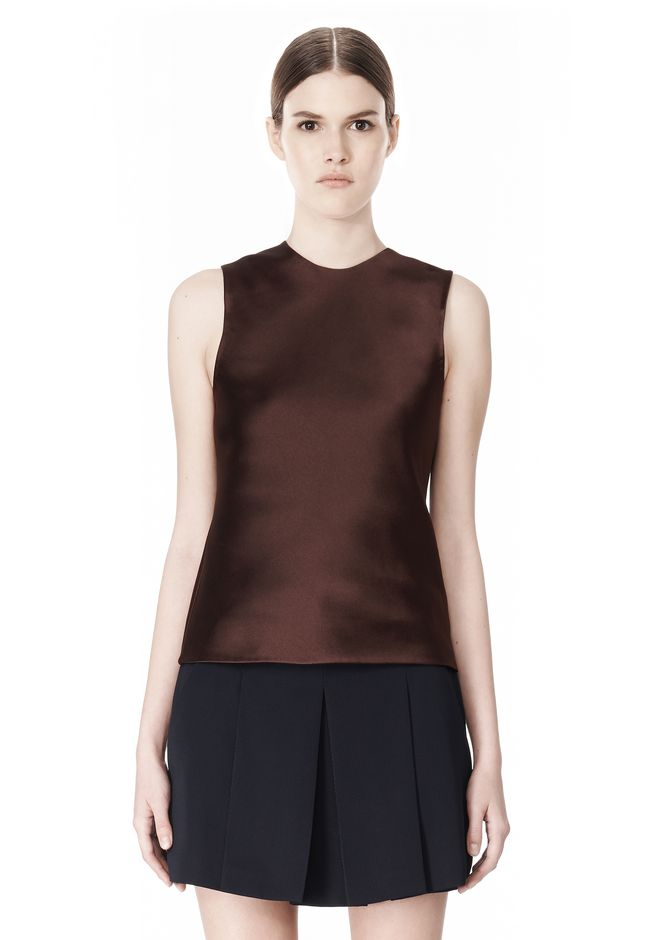 ALEXANDER WANG EXCLUSIVE SHELL TOP WITH FRINGE TOP Adult 12_n_d