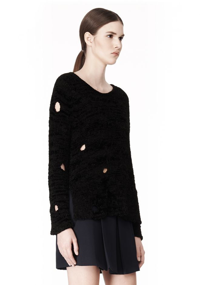 ALEXANDER WANG CAST OFF TORN PULLOVER TOP Adult 12_n_a