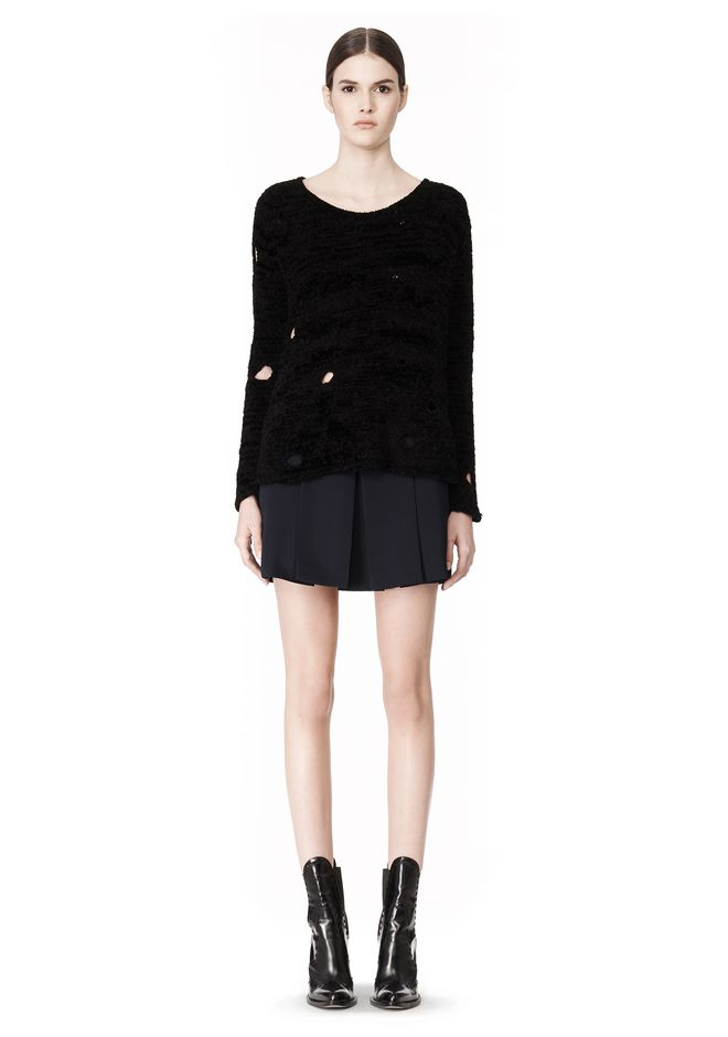 ALEXANDER WANG CAST OFF TORN PULLOVER TOP Adult 12_n_f