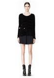 ALEXANDER WANG CAST OFF TORN PULLOVER TOP Adult 8_n_f