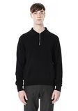 ALEXANDER WANG LONG SLEEVE ZIP  POLO SHIRT TOP Adult 8_n_e