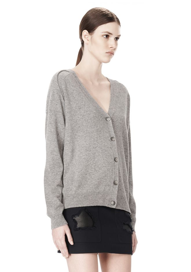 ALEXANDER WANG PEEL AWAY CARDIGAN  CARDIGAN Adult 12_n_a