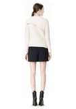 ALEXANDER WANG ZIP PEEL AWAY PULLOVER Crewneck Adult 8_n_r