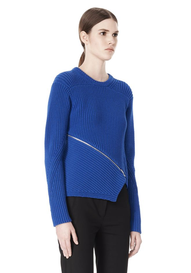 ALEXANDER WANG ZIP PEEL AWAY PULLOVER Crewneck Adult 12_n_a