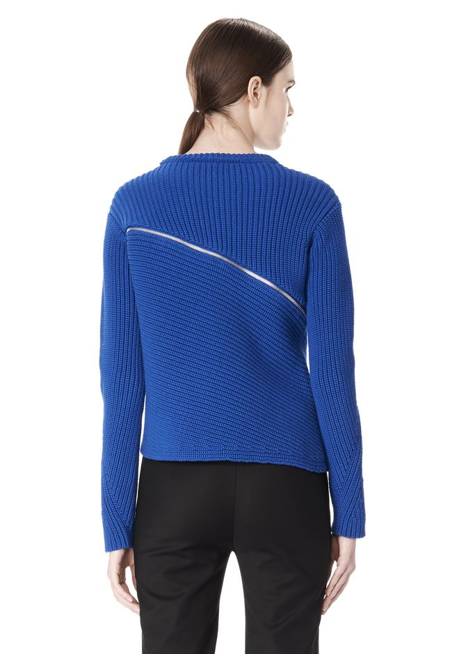 ALEXANDER WANG ZIP PEEL AWAY PULLOVER Crewneck Adult 12_n_d