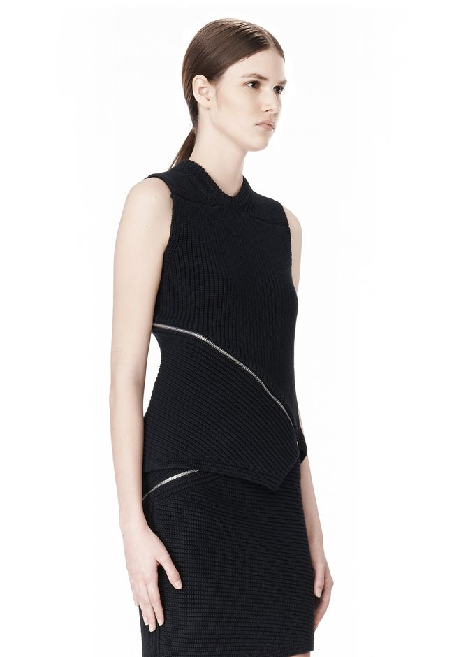 ALEXANDER WANG ZIP PEEL AWAY TANK TOP Adult 12_n_a