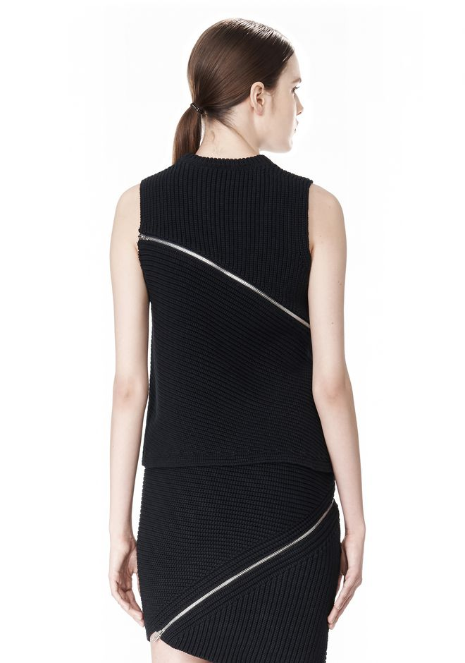 ALEXANDER WANG ZIP PEEL AWAY TANK TOP Adult 12_n_d