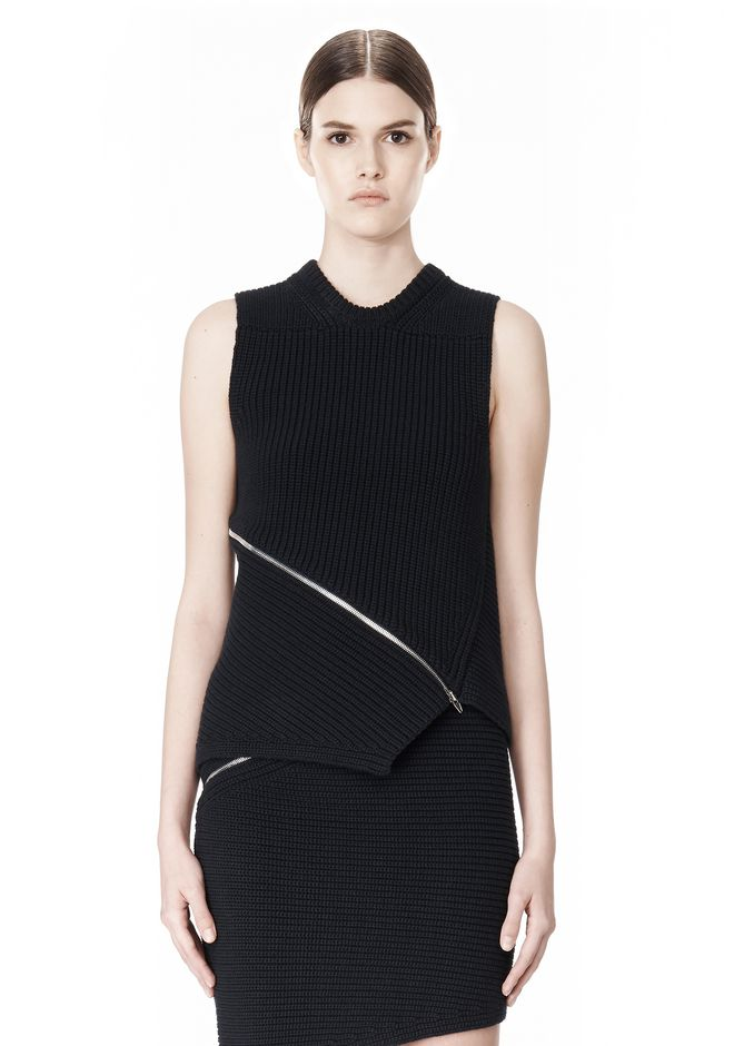 ALEXANDER WANG ZIP PEEL AWAY TANK TOP Adult 12_n_e