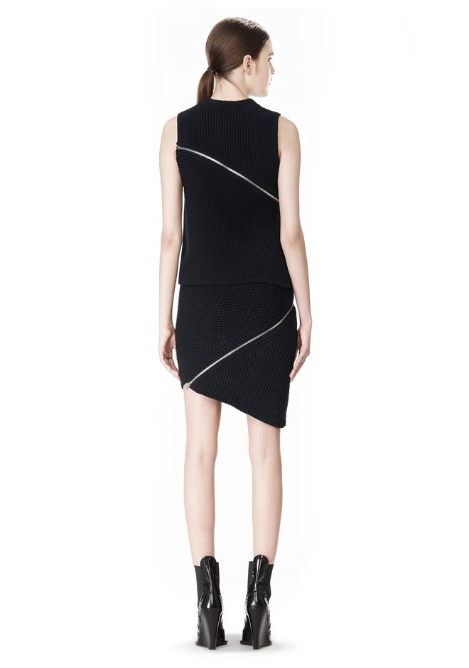 ALEXANDER WANG ZIP PEEL AWAY TANK TOP Adult 12_n_r