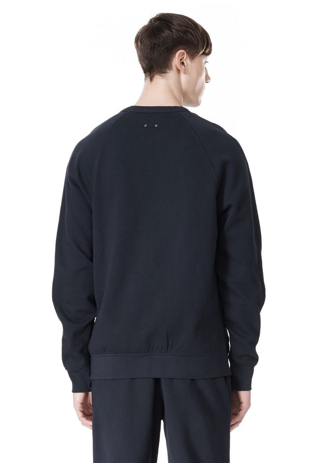 T by ALEXANDER WANG VINTAGE FLEECE LONG SLEEVE SWEATSHIRT SWEATER Adult 12_n_d