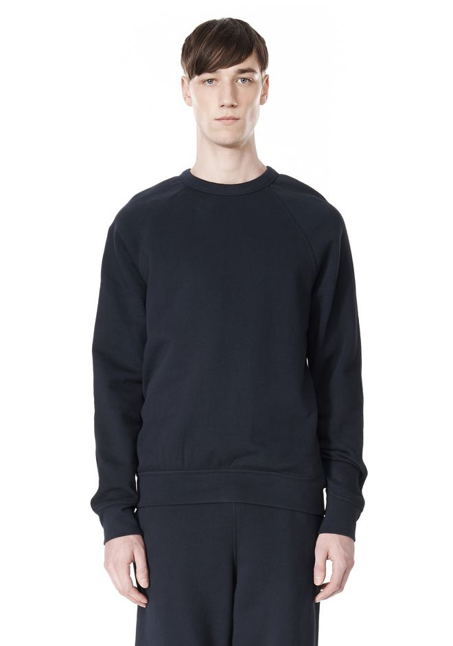T by ALEXANDER WANG VINTAGE FLEECE LONG SLEEVE SWEATSHIRT SWEATER Adult 12_n_e