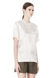 ALEXANDER WANG T-SHIRT WITH EXPOSED DISTRESSED BACK TOP Adult 8_n_a