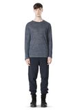 T by ALEXANDER WANG HEATHER LINEN CREWNECK LONG SLEEVE TEE TOP Adult 8_n_f