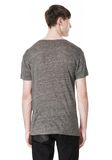 T by ALEXANDER WANG HEATHER LINEN CREWNECK SHORT SLEEVE TEE TOP Adult 8_n_d