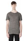 T by ALEXANDER WANG HEATHER LINEN CREWNECK SHORT SLEEVE TEE TOP Adult 8_n_e