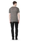 T by ALEXANDER WANG HEATHER LINEN CREWNECK SHORT SLEEVE TEE TOP Adult 8_n_r