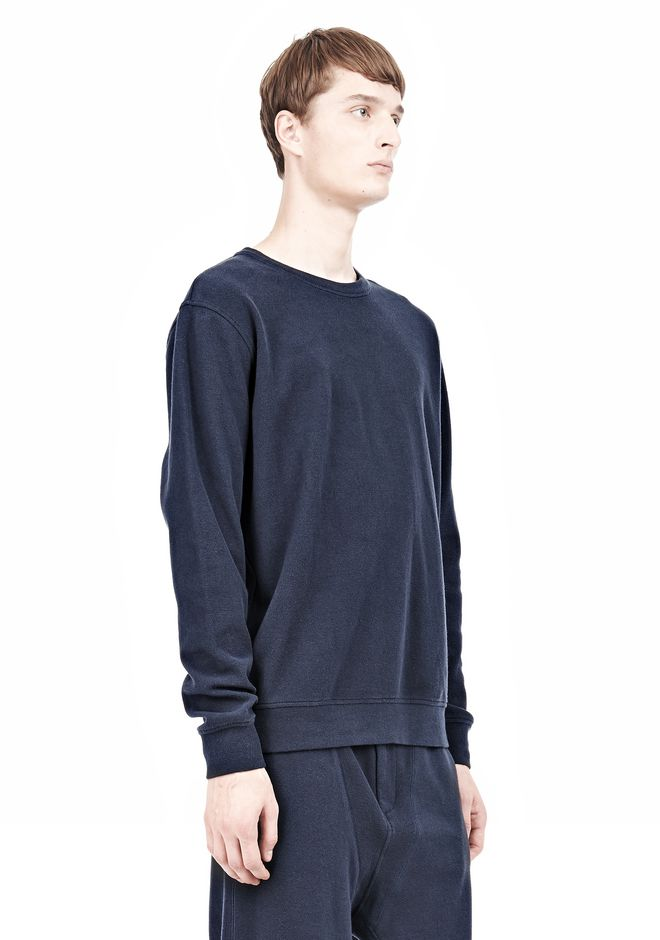 T by ALEXANDER WANG PIQUE DOUBLE KNIT SWEATSHIRT TOP Adult 12_n_a