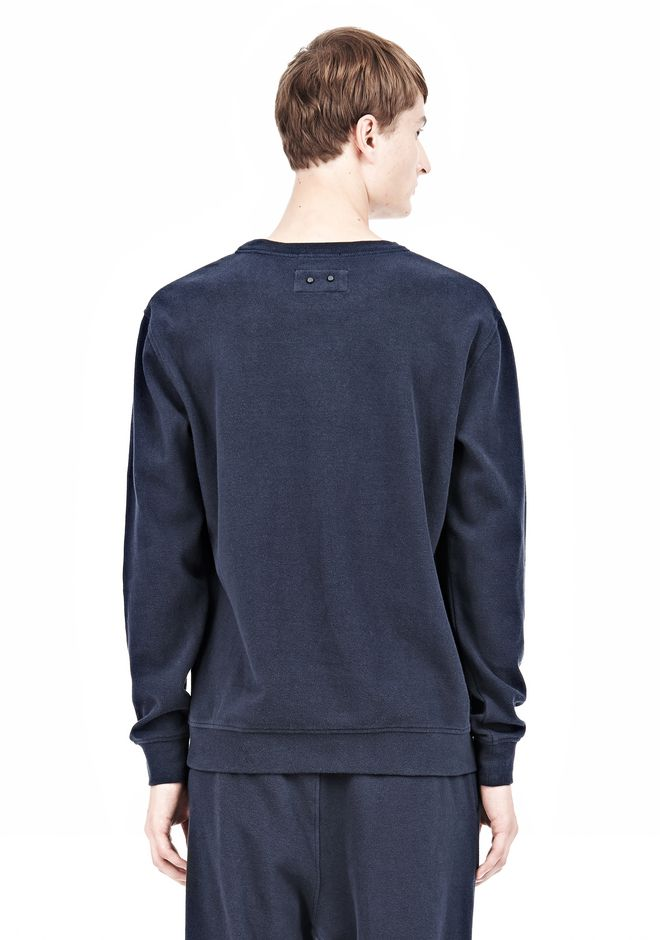 T by ALEXANDER WANG PIQUE DOUBLE KNIT SWEATSHIRT TOP Adult 12_n_d