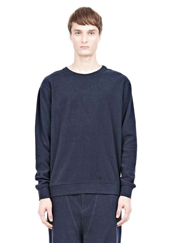 T by ALEXANDER WANG PIQUE DOUBLE KNIT SWEATSHIRT TOP Adult 12_n_e
